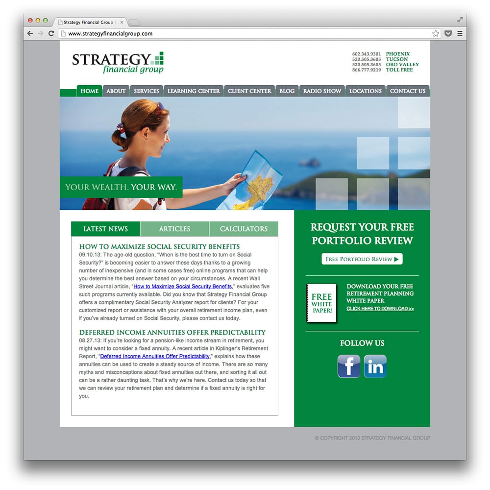 Strategy Financial Group Website
