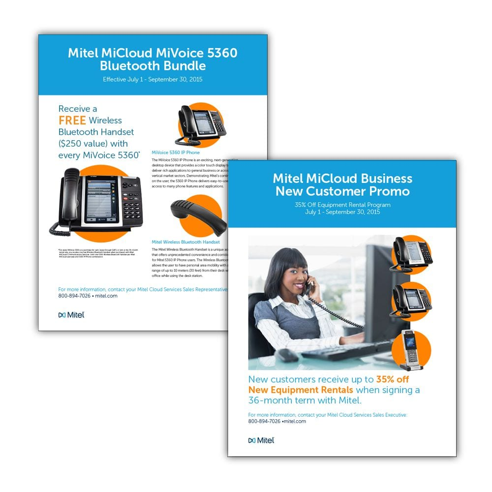 Mitel Phone Sales Promotion Flyers