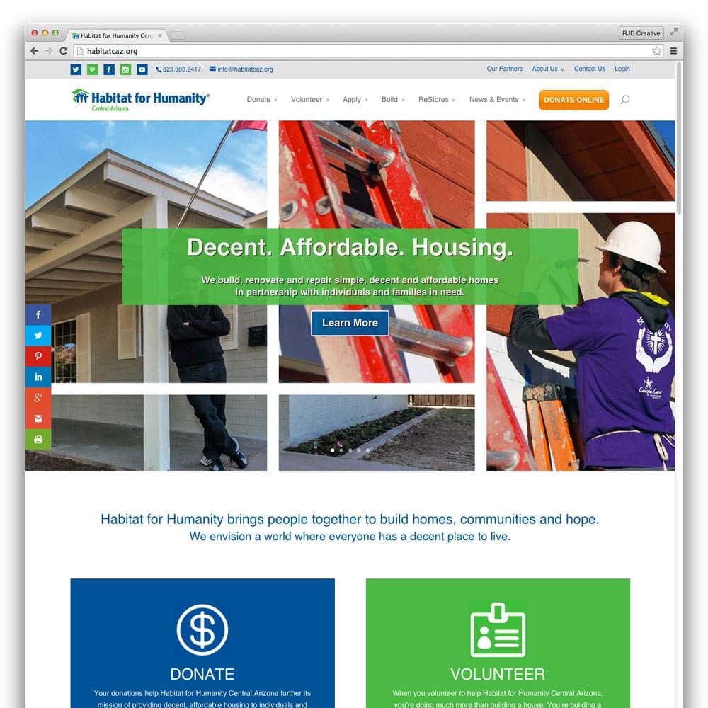 Habitat for Humanity Central Arizona Website