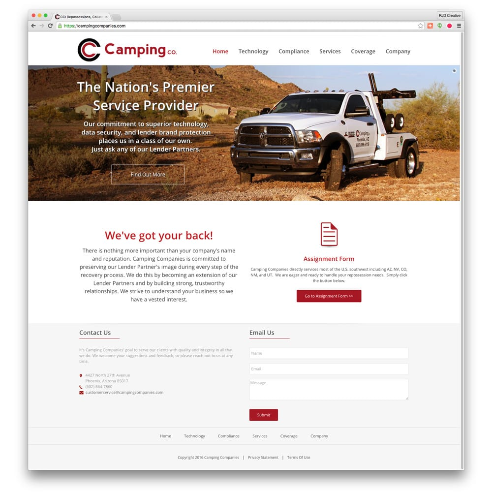 Camping Companies Website