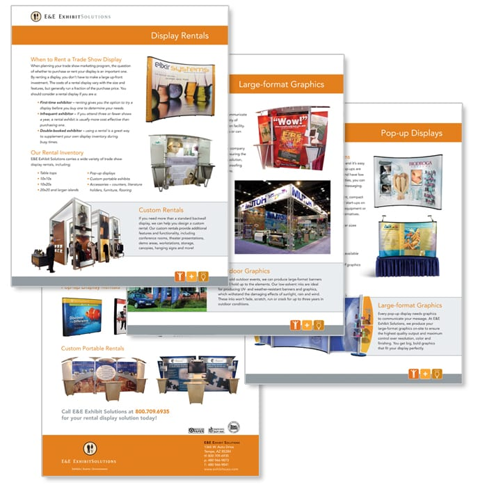 E&E Exhibit Solutions Sales Sheets