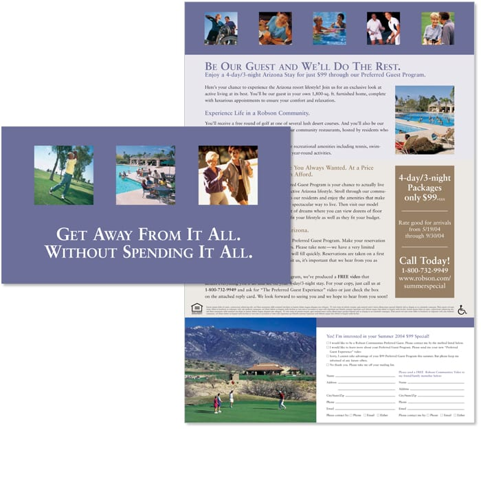 Robson Communities Summer Getaway Direct Mail