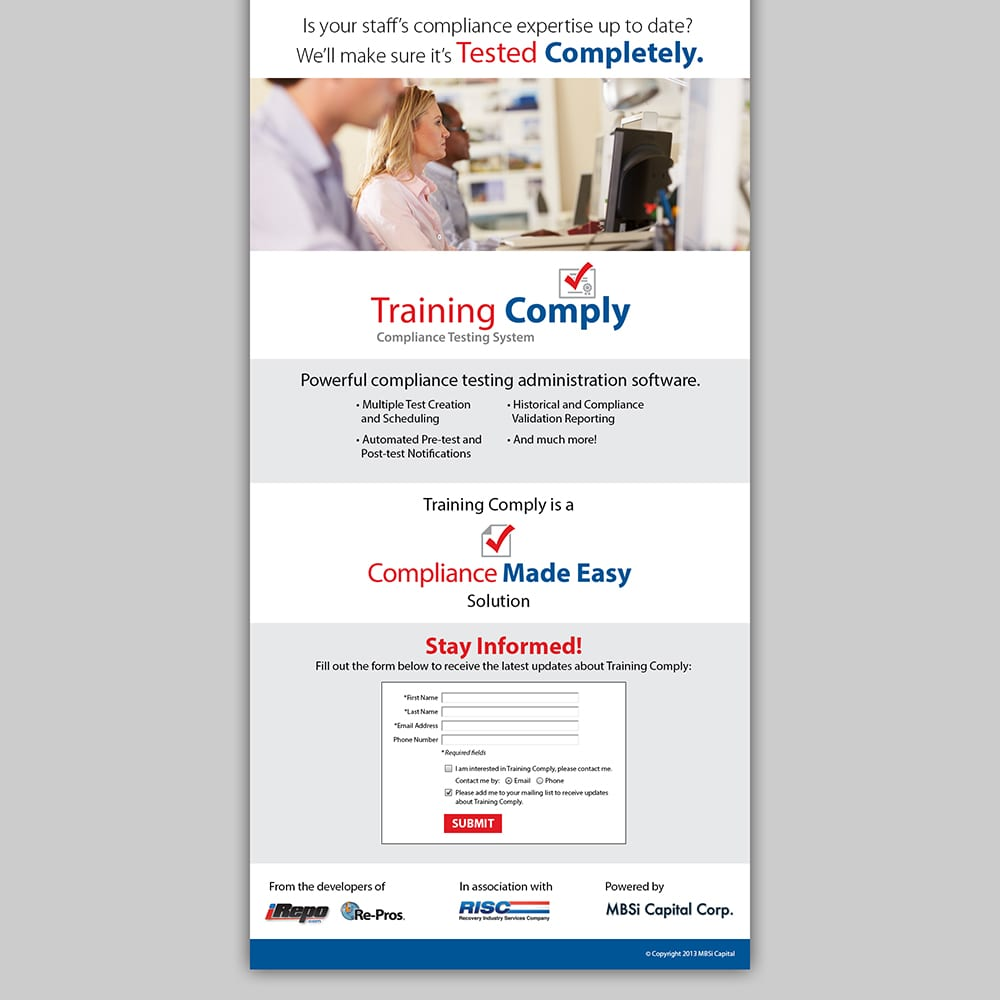 MBSi Training Comply Landing Page