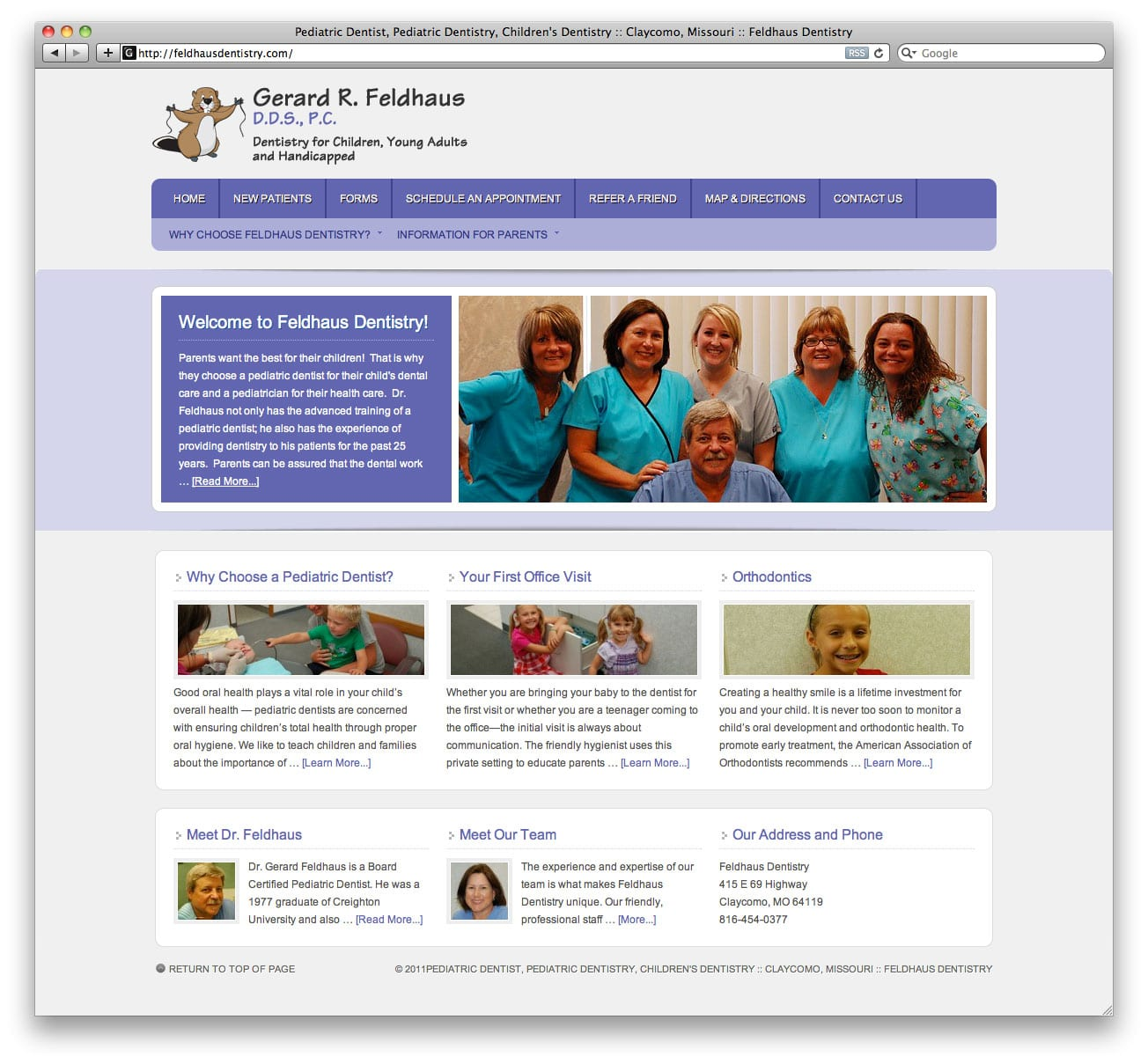 Feldhaus Dentistry Website