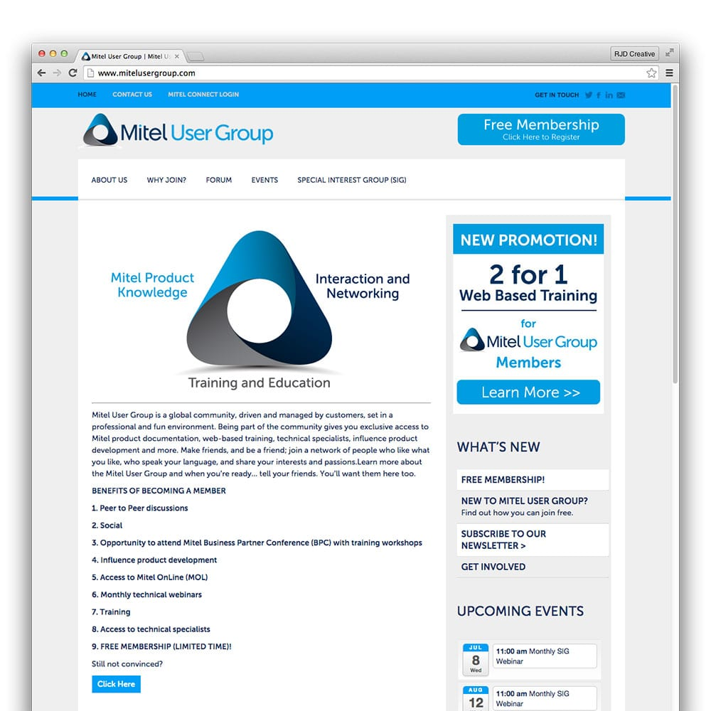 Mitel User Group North American Group Website | mitelusergroup.com