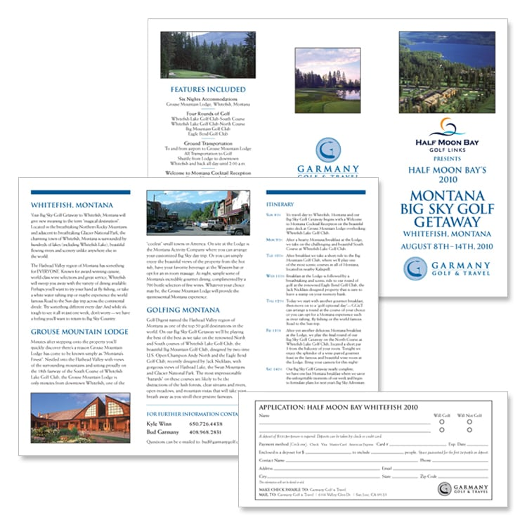 Garmany Golf & Travel Experience Brochure