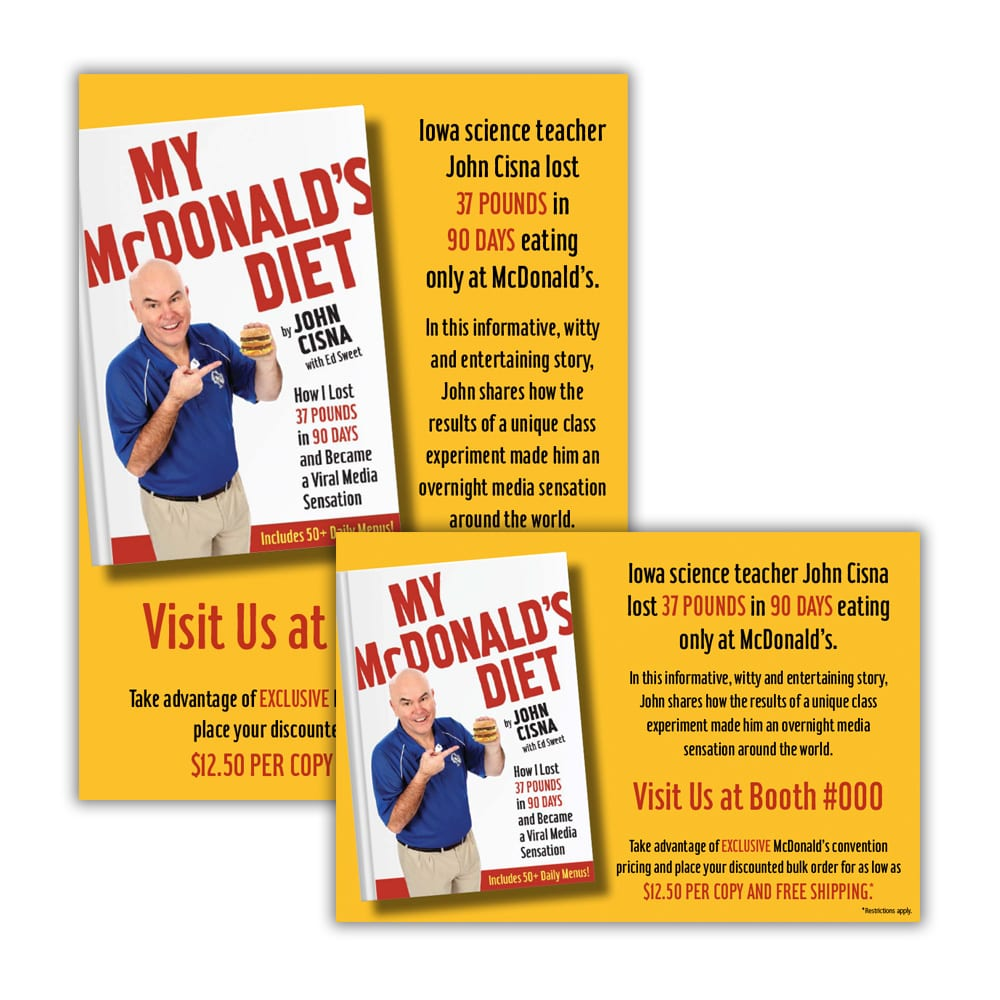 My McDonald's Diet Book Promos