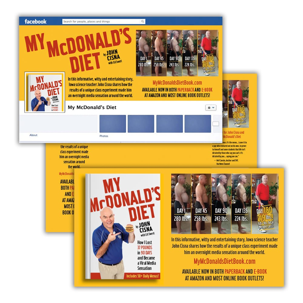 My McDonald's Diet Book Social Media Graphics