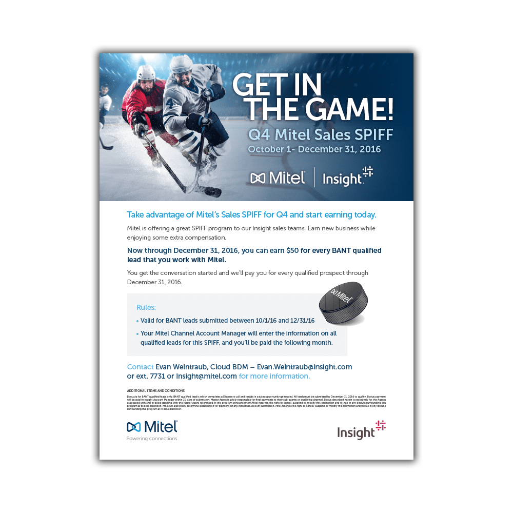 Mitel & Insight MiCloud Q4 Canada Promotional Sales Flyer