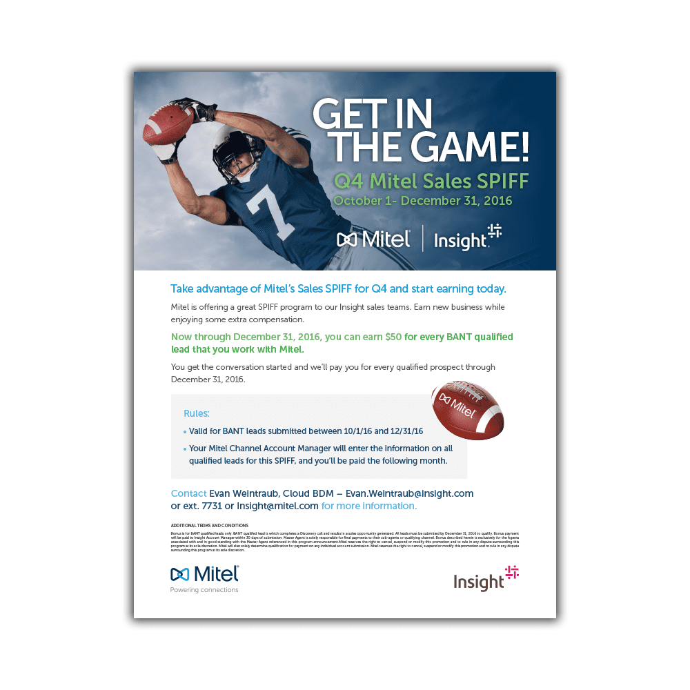 Mitel & Insight MiCloud Q4 U.S. Promotional Sales Flyer