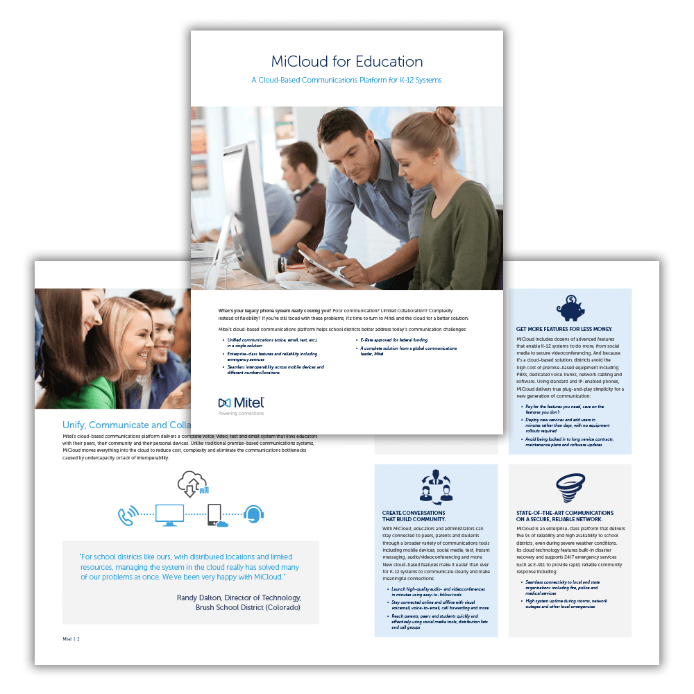 Mitel MiCloud for Education Brochure