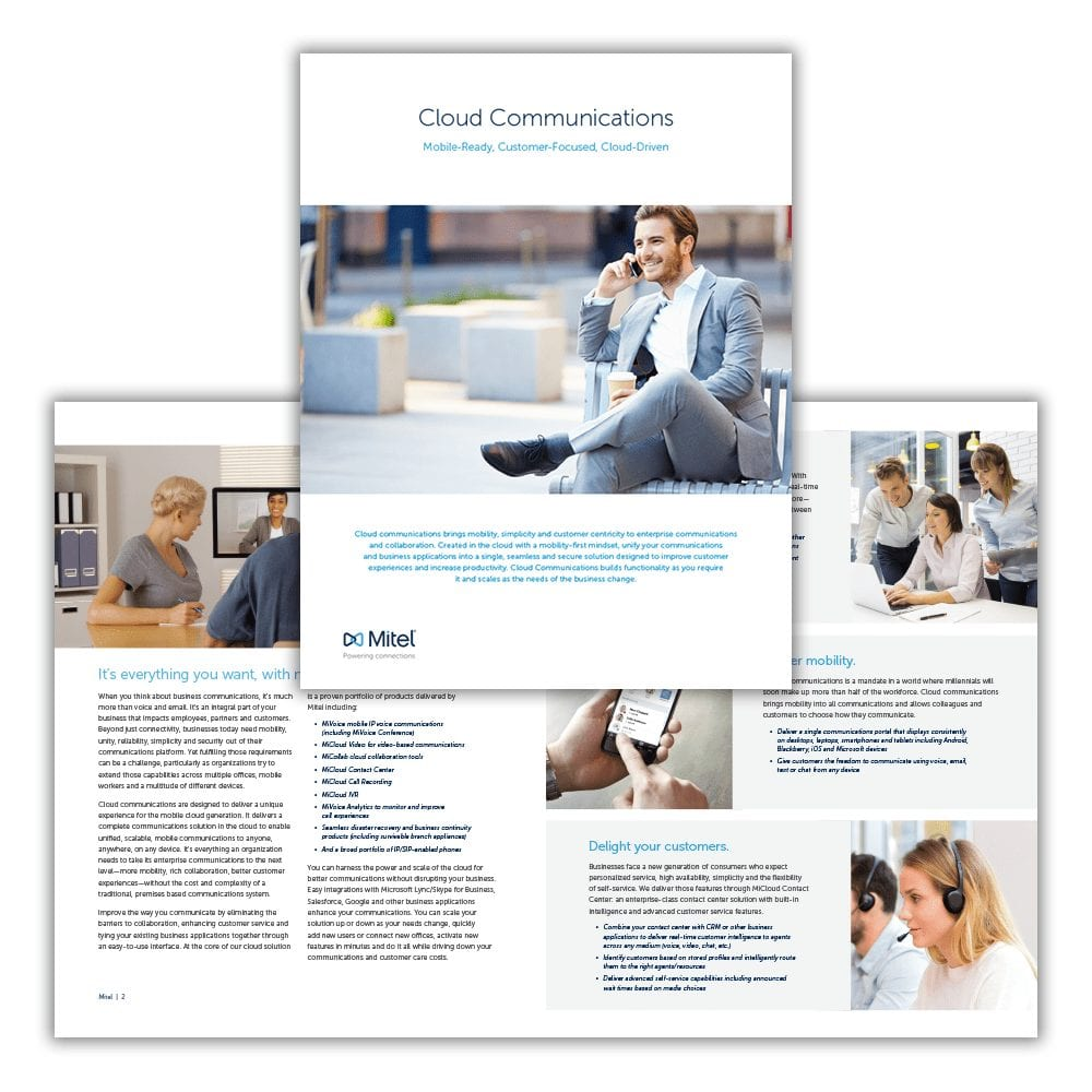 Mitel Cloud Communications Brochure