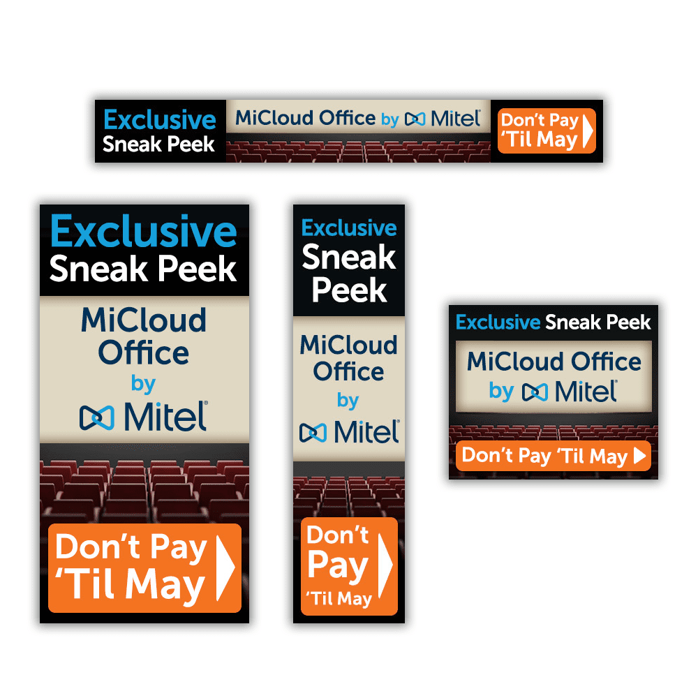 "Mitel MiCloud Office ""Sneak Peek"" Web Banner Ads"