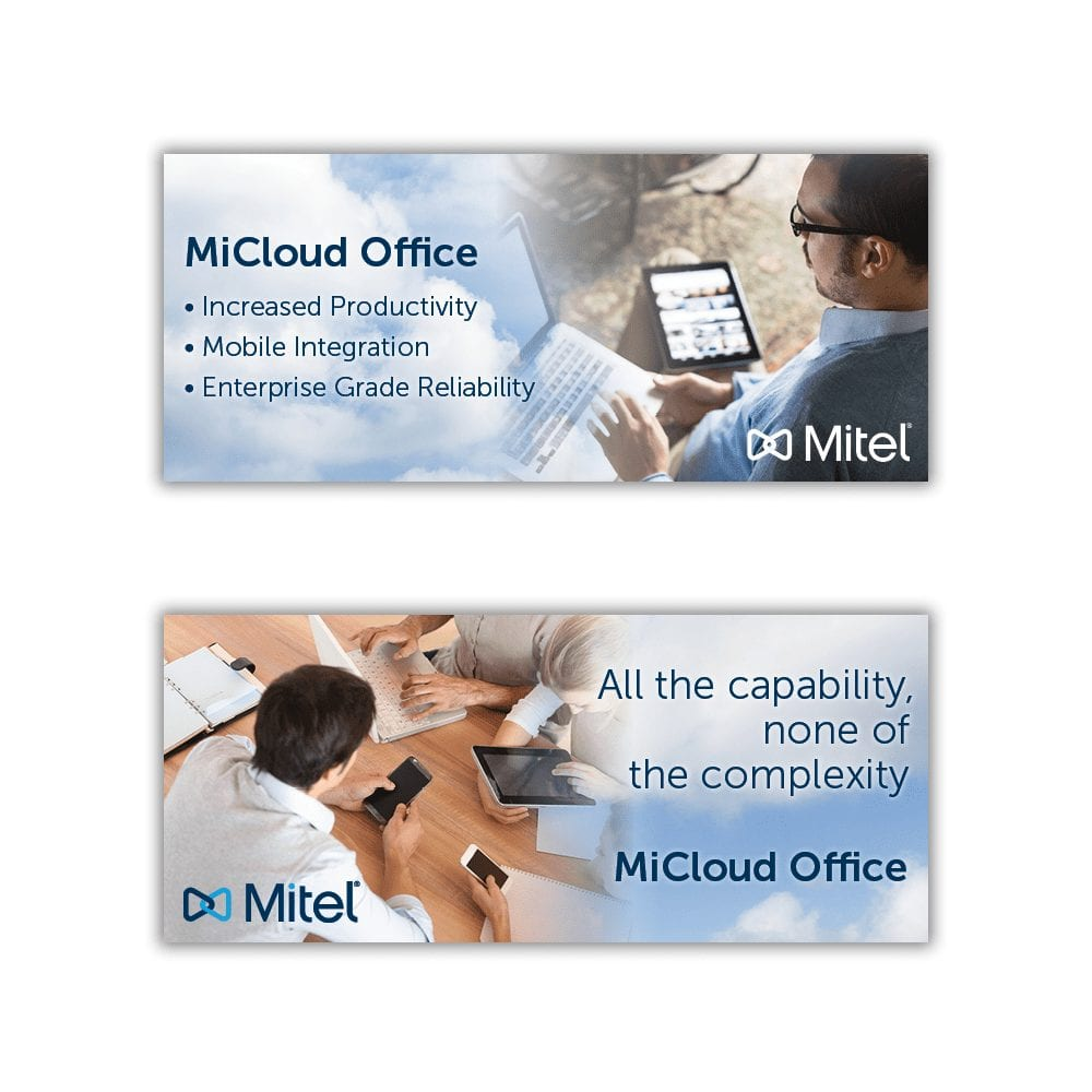 Mitel MiCloud Office Tech Data Web Banner Ads