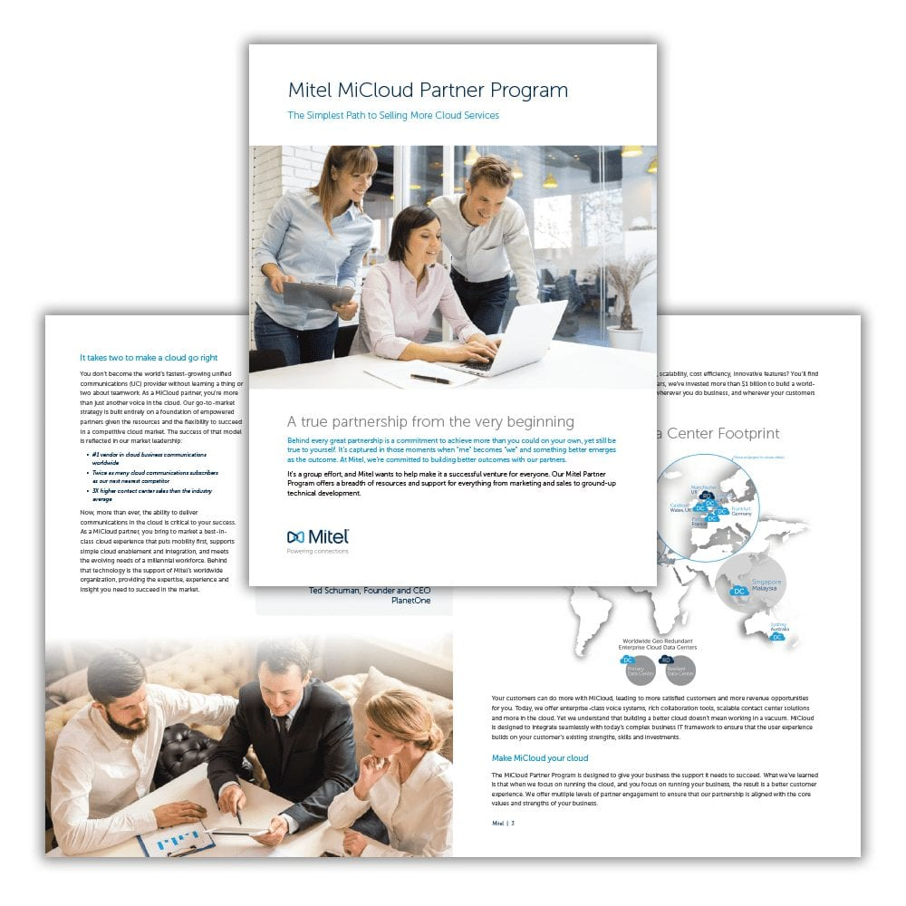 Mitel MiCloud Partner Program Brochure