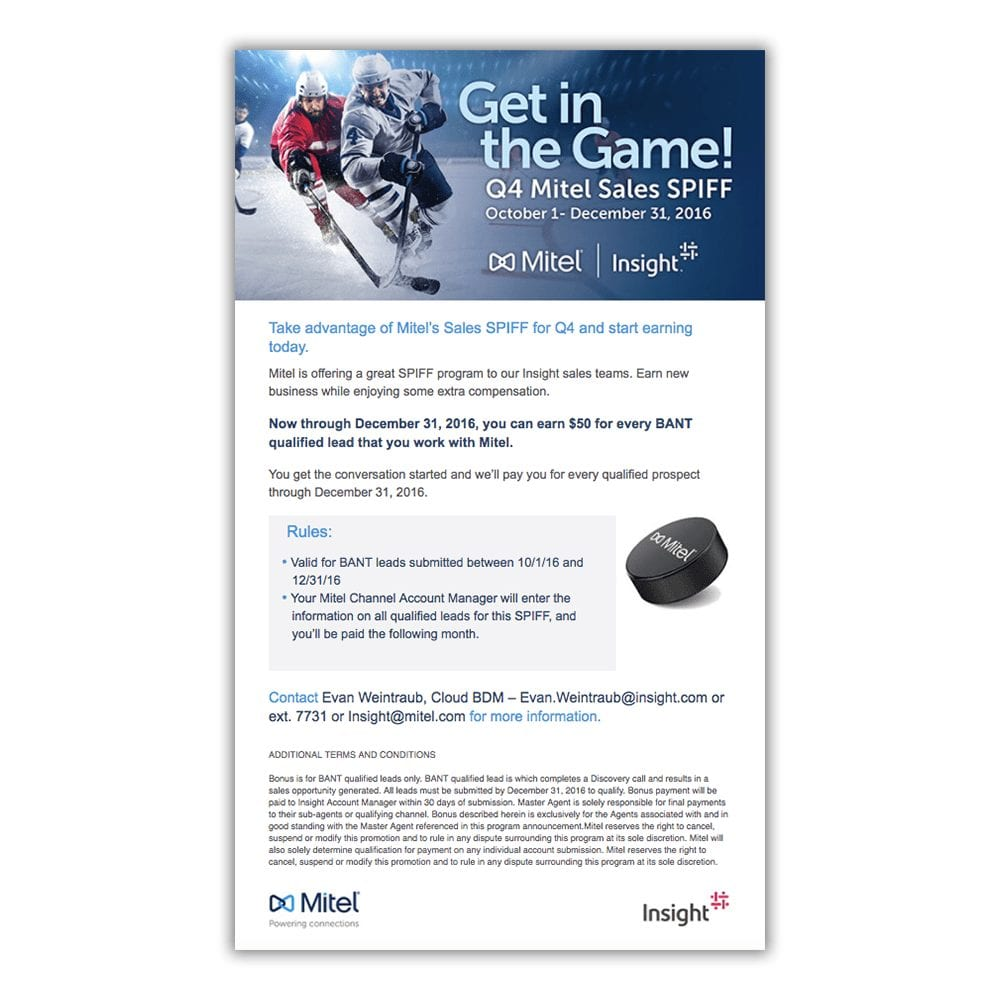 Mitel & Insight Q4 Canada Promotional Email